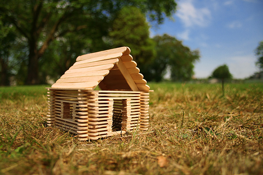 House Made Out of Popsicle Sticks
