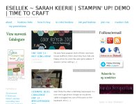 EsEllek: Sarah Keerie UK Stampin' Up! demonstrator